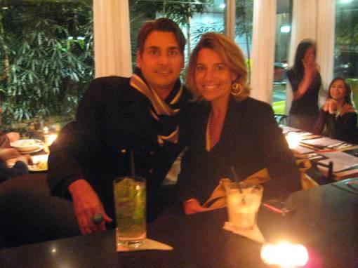 Eu e Solange jantando no SPOT.